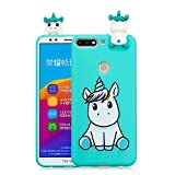 LAXIN Compatible with Huawei Y7 (2018) Case Unicorn Silicone Gel Shockproof Phone Protective Cover...