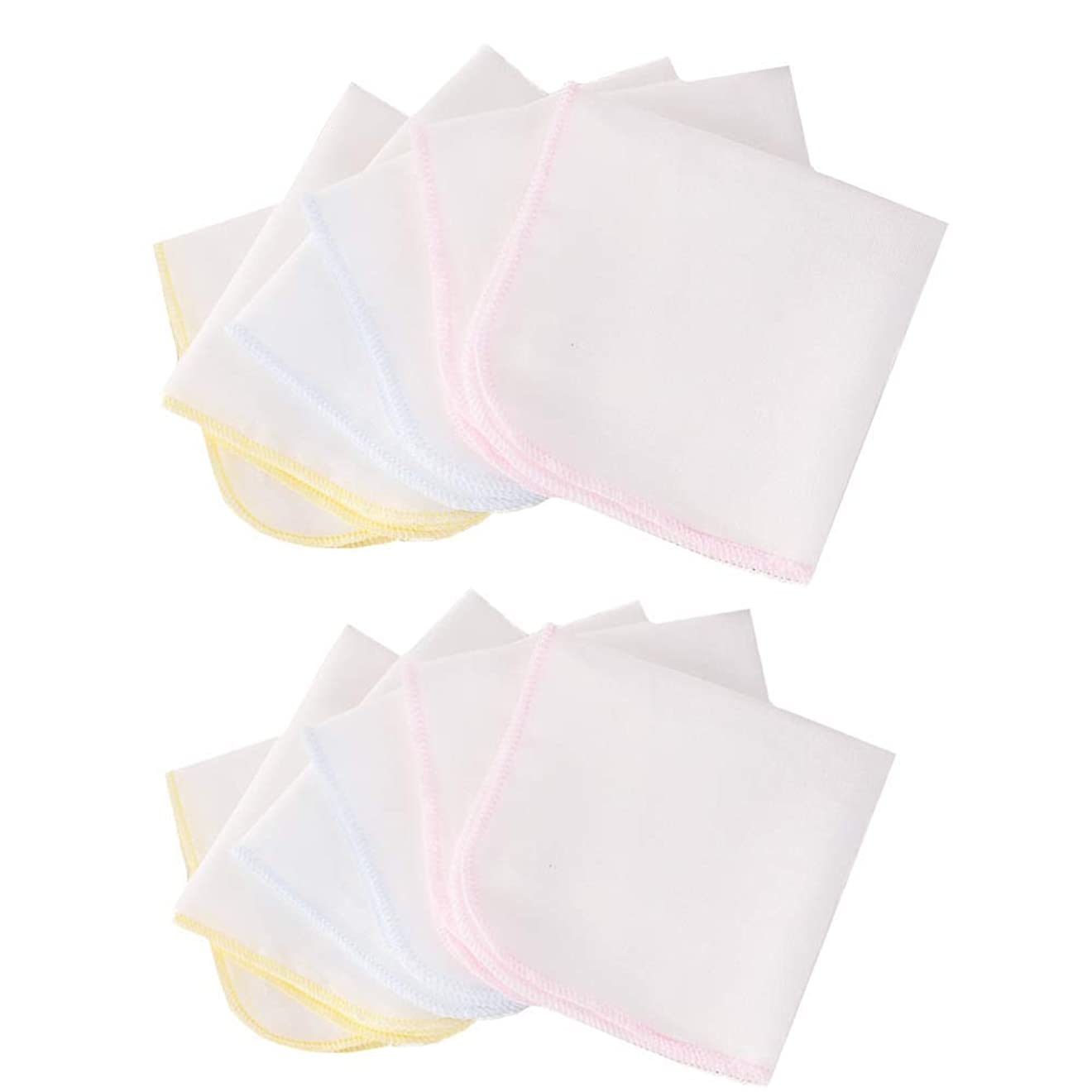 会計追放する送ったガーゼハンカチ 綿100% ベビータオル ベビービブ ダブルガーゼハンカチ 柔らかい 保育園 出産祝い 12枚