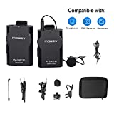 MOURIV MV-GMC201 2.4G Wireless Lavalier Microphone System Compatible with iPhone 11 X 8 8 Plus 7 6 Smartphone,Canon 6D 600D Nikon D800 D3300 Sony A7 A9 DSLR GoPro Hero4 Hero3 Hero3+ Action Cameras