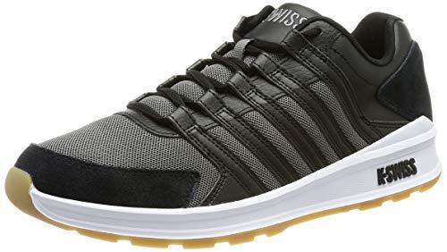 K-Swiss Herren Vista Trainer T Sneaker, Black/Charcoal/Gum, 46 EU