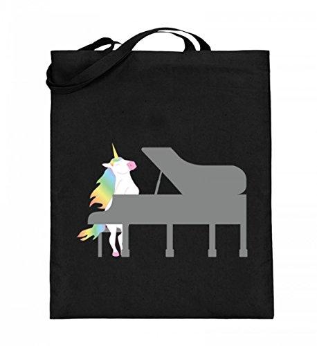 Chorchester Para todos los fans de los unicornios y del piano. Bolsa de yute (con asas largas).