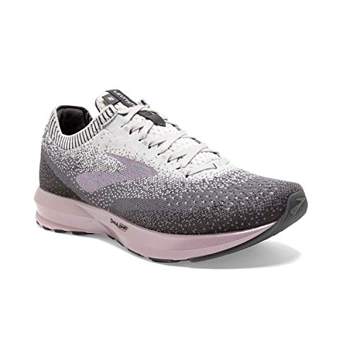 Brooks Womens Levitate 2 Running Shoe - Grey/Grey/Rose - B - 7.0