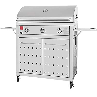 Fuego F36S-NG F36S All 304SS Free Standing Gas Grill, Stainless Steel