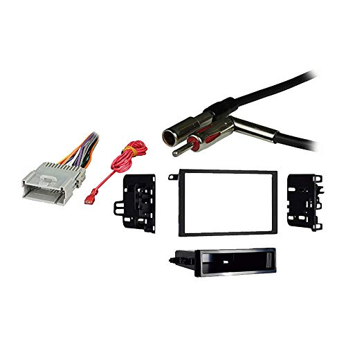 Compatible with Chevy S 10 Pickup 2003 2004 Double DIN Stereo Harness Radio Install Dash Kit Package