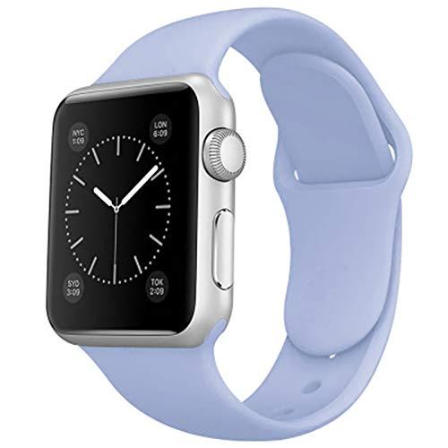 Shazikaihui Compatible con Apple Watch Correa 38mm 42mm 40mm 44mm, Deportivas de Silicona Correas de Repuesto para iWatch SE Series 6 5 4 3 2 1 (38mm/40mm-S/M,13)