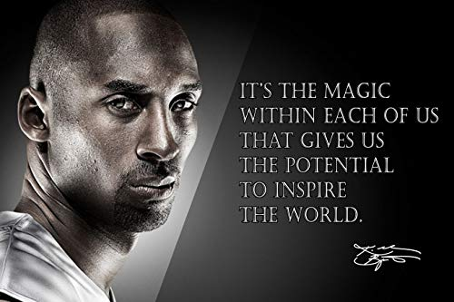Kobe Bryant Poster Quote Black History Month Posters Los Angeles Lakers Quotes Basketball Sports Decor Coaching Wall Art Growth Mindset Teacher Educational Teaching Quotes Elementary P066