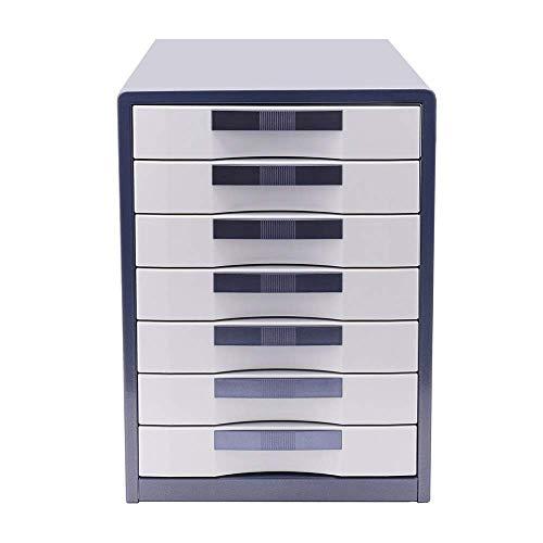 XUSHEN-HU Archivo Oficina del Gabinete de 7 capas del cajón Tipo de bloqueo de archivos armario metálico de escritorio del archivo de datos Gabinete Acabado de almacenamiento de gran capacidad Archivo