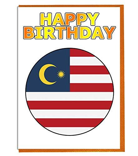 Maleisië Vlag - Verjaardagskaart - Vriend - Familie - Collega - Mate - Boss - Loved One