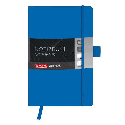 Herlitz 11369097 Notizbuch my.book Classic A5, 96 Blatt, kariert, blau