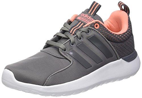 adidas adidas Damen CF Lite Racer Laufschuhe, Grau (Grey Three/Grey Three/Sun Glow), 38 2/3 EU