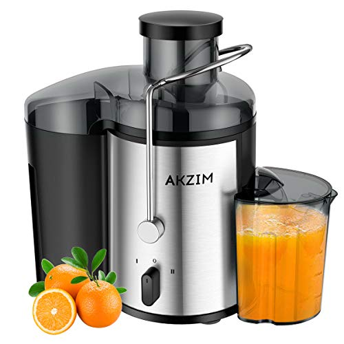 Fruit Juicer AKZIM Juice Extractor with Non-Slip Feet,Dual Speed...