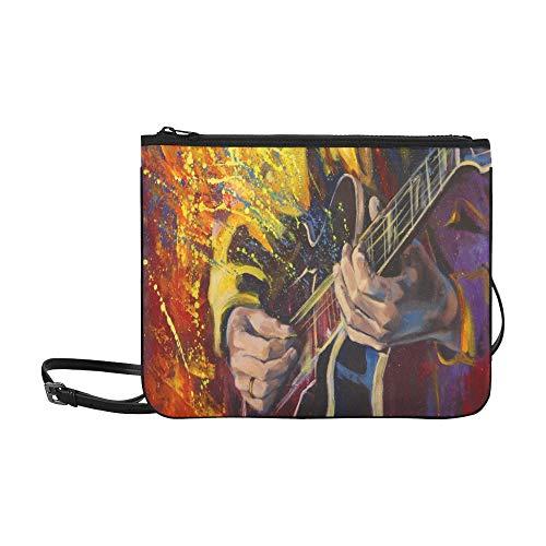 Handbag For Kids Jazz Rock Cool Electric Guitar For Boy Adjustable Shoulder Strap Cross Shoulder Bag For Women Girls Ladies Cross Body Workout Bag Best Handbag