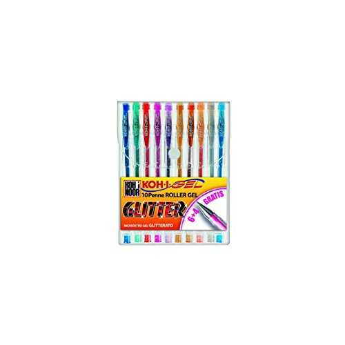 KOH nagp10s Gel-Kugelschreiber (Capped, blau, grün, grau, orange, pink, rot, mehrfarbig, Kunststoff, Blister)