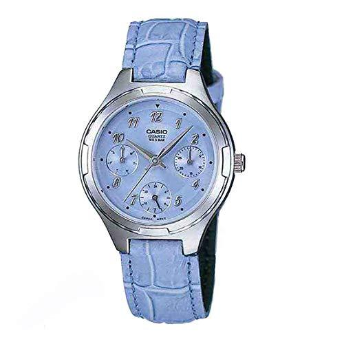 Reloj Casio LTP-2064E-2AVDF de Mujer con Caja de Acero y Correa de Piel Azul Claro