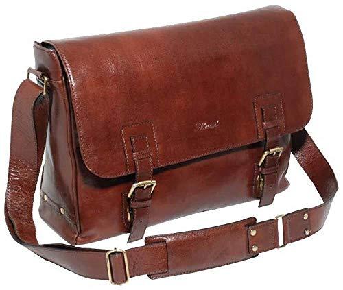 Ashwood Leather Mens Chelsea Veg Tan Jasper Double Clasp Laptop Satchel - Brown