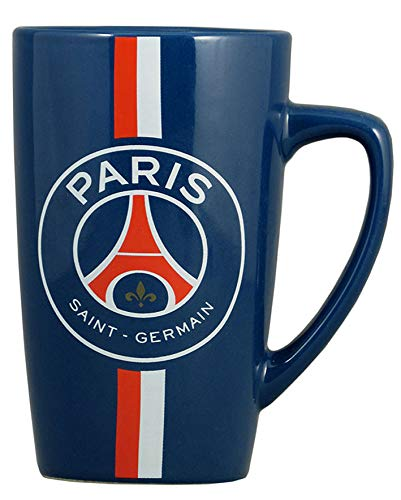 Koffiemok, motief PSG, officiële collectie Paris Saint Germain, blauw