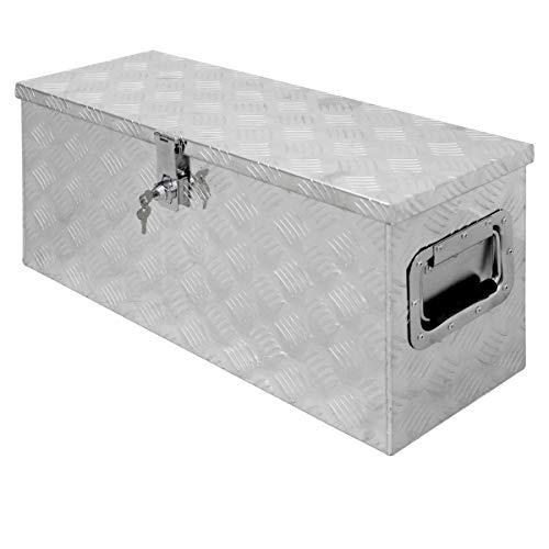 ECD Germany Caja de aluminio multiusos - 73 x 24 x 32 cm - Resistente a la corrosión - Con sistema de cierre - Cajón de guardado de herramientas - Seguridad y transporte fácil - Montaje en camión