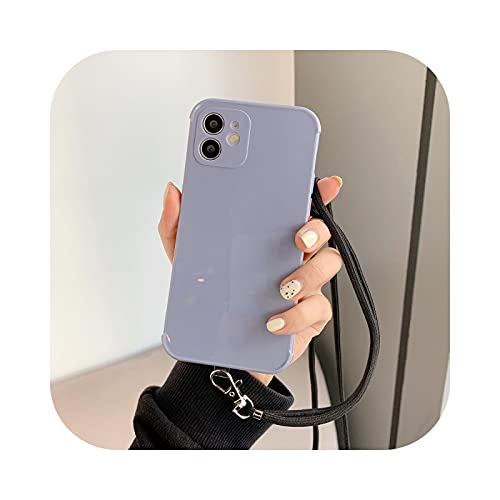 Funda de silicona de color puro para iPhone 12 11 Pro MAX MINI XS XR X 7 8 Plus SE 2020 suave TPU contraportada gris-para iPhone 11 Pro
