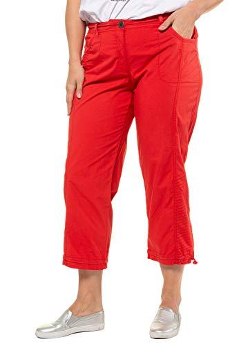 Ulla Popken Damen Cargohose 7/8 Hose, Rot (Pink 55), W(Herstellergröße: 60)