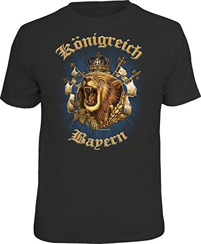 Das Geschenk T-Shirt für den Bayern Fan: Königreich Bayern M, Nr.6662