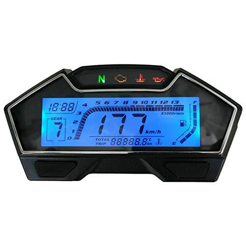No-branded Odometer Spur LCD-Entfernungsmesser Digitalanzeige Kraftstoffanzeige Änderung Zubehör RPM Geschwindigkeit Motorrad Tachometer ZHQHYQHHX