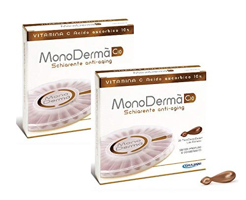 2 x MonoDermà C10 28 dosis Vitamina C pura 10% aclarante antiedad