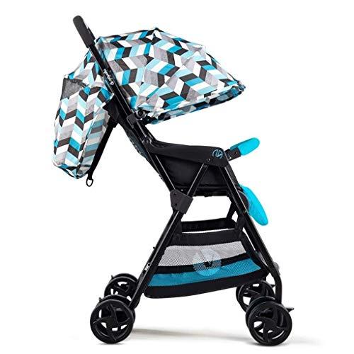 YYLVM Baby Jogger City Cochecito, cochecitos cochecitos de niño del Cochecito Ligero, Ajustable Cochecito de bebé Sillas de Paseo (Color : D, Size : One Size)