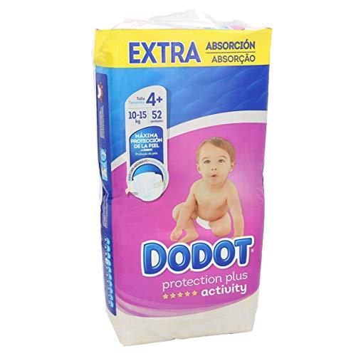 Dodot - Paquete con 52 pañales desechables, unisex, talla 4+ (10-15 kg)