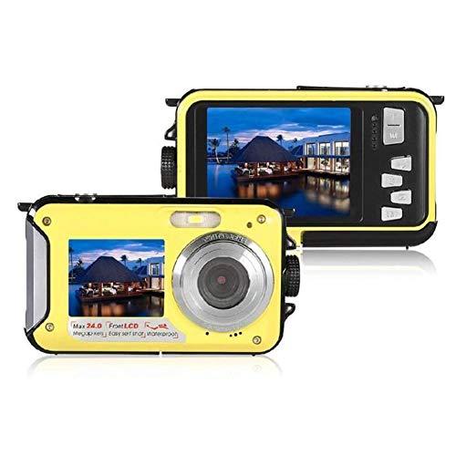 TAIPPAN Unterwasserkamera, Retro 24MP-Kamera Anti-Shake-Kompaktkamera Vollständig versiegelte Digitalkamera wasserdichte Selfie-Camcorder-Kamera mit Mikrofon