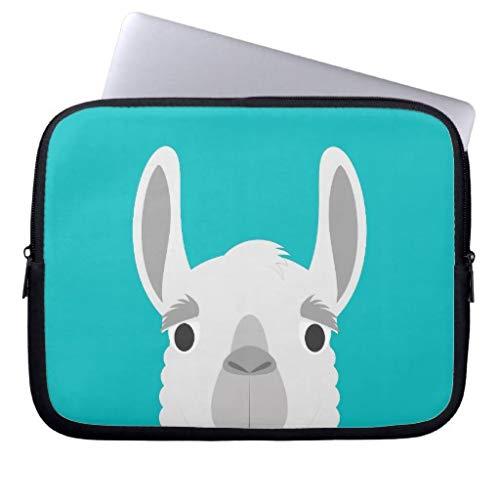 qidushop Llama Funny Peekaboo Portrait Laptop Cases Macbook Air 13 13.3 Inch Computer Cases Protective Bag Macbook Pro 13.3