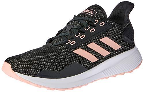 Adidas Duramo 9, Zapatillas de Entrenamiento para Mujer, Gris (Carbon/Clear Orange/Footwear White 0), 38 EU