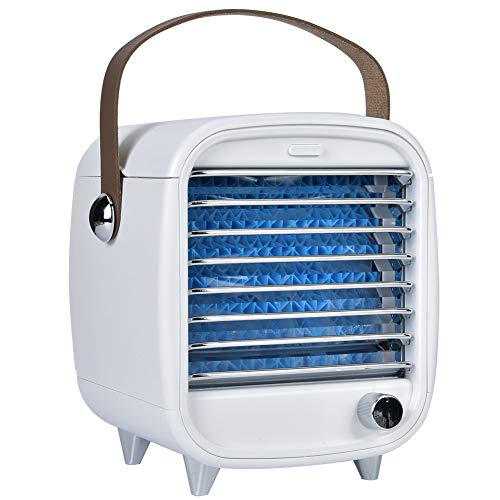 CUTULAMO Ventilador de enfriamiento, Enfriador de Aire de Piel Fresca, Almohadilla húmeda Gruesa para Proporcionar un Mejor Aire y Disfrutar del Verano Fresco