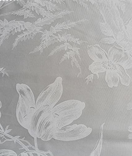 RICAMI FIORENTINI BALDI Funda nórdica con sábana bajera ajustable y 1 funda de almohada, algodón percal 100% producto artesanal Toscano (Flora Gris, Individual Maxi)