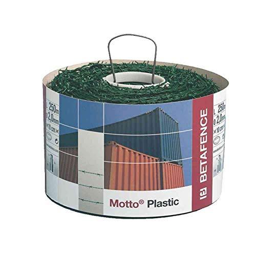 MLGV Stacheldraht, Draht, Zaun, PVC grün, 4-spitzig, ca. 50m, Ø ca. 2,0 mm