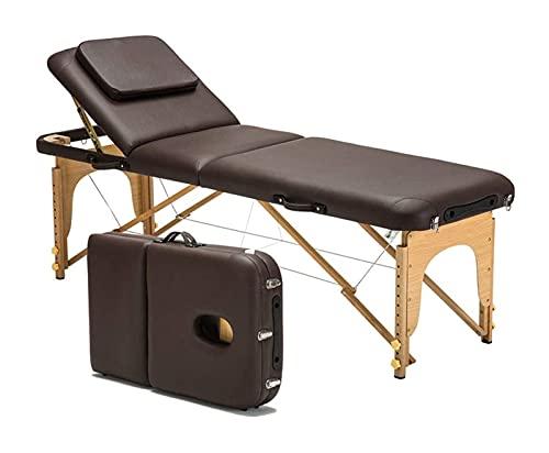KSDCDF Table de Massage légère avec Cadre en Aluminium, pli de berinothérapie Bed, avec étui de...