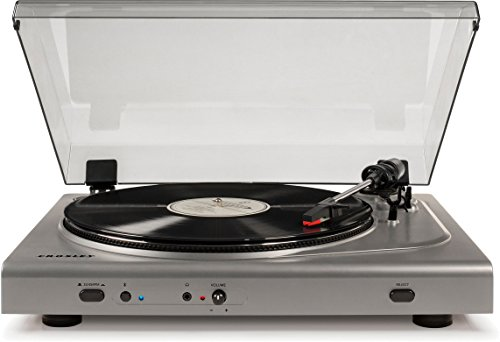 Crosley T300 Belt-Drive Component Bluetooth Turntable with Built-in Preamp, Silver