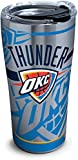 Tervis NBA Oklahoma City Thunder Paint Stainless Steel Insulated Tumbler with Clear and Black Hammer Lid, 20oz, Silver