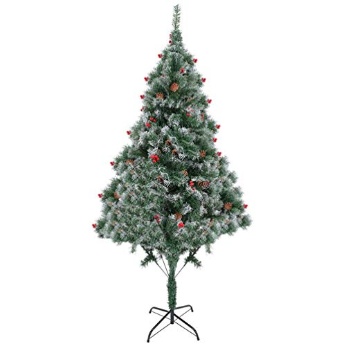 Adpan 6 Ft Artificial PVC Christmas Tree W/Stand Holiday Season Home Indoor Outdoor White