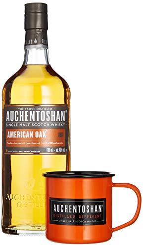 Auchentoshan AMERICAN OAK Single Malt Scotch Whisky 40% Vol. 0,7 l + GB mit Tasse und Cocktail Rezeptbuch