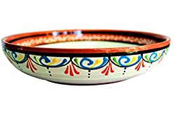 "Terracotta White Serving Dish - Hand Painted From Spain.<a href=""https://www.amazon.com/gp/product/B076NQFF3P/ref=as_li_qf_asin_il_tl?ie=UTF8&amp;tag=ris15-20&amp;creative=9325&amp;linkCode=as2&amp;creativeASIN=B076NQFF3P&amp;linkId=cfea2de75441fa9eef6dc3e9584abe64"" target=""_blank"" rel=""nofollow noopener noreferrer""><span style=""text-decoration: underline; color: #0000ff;""><strong> Buy it on Amazon.</strong></span></a>"