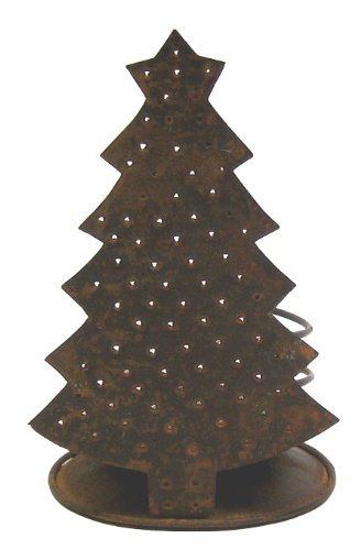 Craft Outlet Tin Christmas Tree Candle Holder, 6-Inch, Set of 2