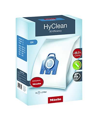 Miele 9917730 - Pack De 4 Bolsas De Aspirador G/N Hyclean Eficiencia 3D
