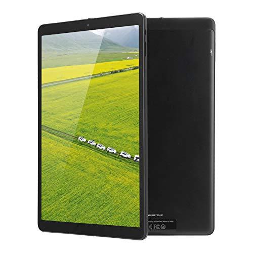 Tableta de 10.1' para Android 10.0, CPU de 8 núcleos Tableta de pantalla completa 128GB ROM 6GB RAM,Cámara dual de 2MP+5MP,WIFI Bluetooth 5.0 1920x1200 IPS Bloc de notas con pantalla táctil(negro-UE)
