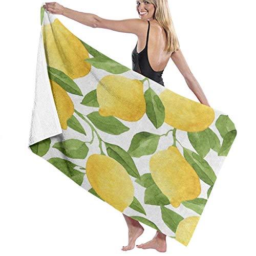 WKLNM Toalla de árbol de Frutas de limón y Acuarela para baño Juego de Toallas Extra absorbentes 32 '' X 52 '' Toallas de baño Ultra Suaves Toallas Resistentes a la decoloración Toallas cómodas perfe