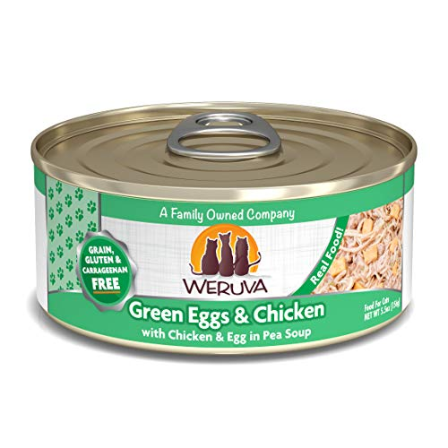 Weruva Classic Cat Food, Green Eggs & Chicken With Chicken Breast & Egg In Pea Soup, 5.5Oz Can (Pack Of 24)