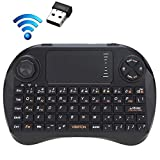 JINYANG Helpful VIBOTON X3 83-Keys QWERTY 2.4GHz Mini Wireless Keyboard with Touchpad & 3 LED Indicator for PC/Pad/Android/Google TV Box / XBOX360 / PS3 / HTPC/IPTV(Black)