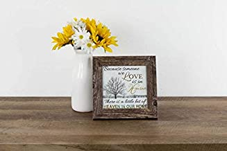 Because Someone You Love is in Heaven Tree Home Funeral Sympathy Framed Decor Art Picture Sign