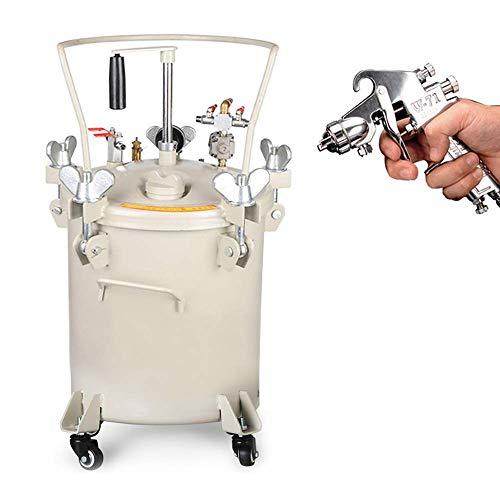 YJINGRUI - Tanque de pintura a presión con pistola de pulverización manual de 30 L (mezcla manual: 30 L)