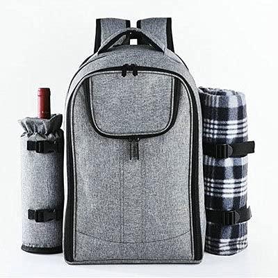KOLOSM Mochilas De Picnic 25L Picnic al Aire Libre Mochila Hombres Camping Frigorífico Bolsa Refrigerador Impermeable Isoterma Refrigerador para Picnic Bag Women Food Box (Color : Gray)