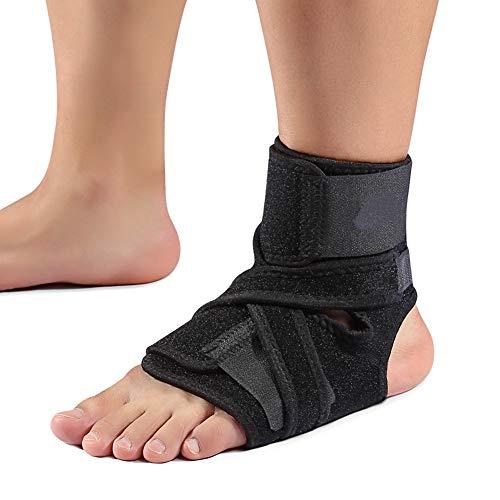 DERCLIVE Correa de tobillo para corrector de ortesis de caída del pie, soporte para tobillo para fascitis plantar